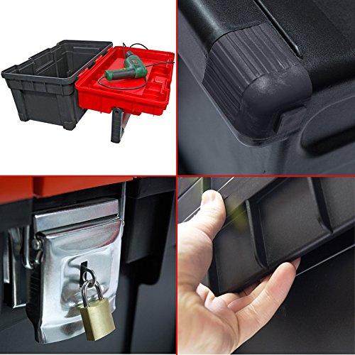 Kunststoff Werkzeugkoffer HD Box Trophy 2 Plus, 80×35,5cm Kasten Werzeugkiste Sortimentskasten Werkzeugkasten Anglerkoffer - 3
