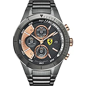 Scuderia Ferrari-0830304-Reloj Hombre-Cuarzo Cronógrafo-Esfera gris-Pulsera acero chapado en gris de Scuderia Ferrari