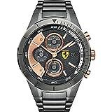 f79cfb6bb322 Scuderia Ferrari – 0830304 – Reloj Hombre – Cuarzo Cronógrafo – Esfera Gris  – Pulsera Acero