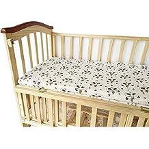 Bebé cuna sábana bajera – 100% muselina de algodón, extra suave Sleeper hojas 28