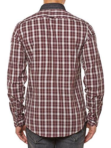 ANTONY MORATO - Camicia a manica lunga da uomo mmsl00262/fa410070 Rosso