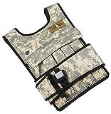 Cross101RUNmax 101Kreuz Gewichtsweste Verstellbar, 40lbs (Camouflage) mit Handy pocket & Wasser Flaschenhalter