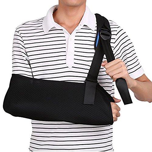 Armschlinge, Bandage für verletzte Arm Handgelenk Ellbogen (Erwachsene) (Stoff Bandagen 1 X 3)