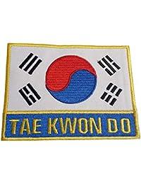Budodrake - Parche de Taekwondo con Bandera de Corea