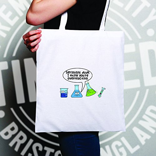 Penso che tu sia esagerando, slogan stampato disegno della novità Geeky Sacchetto Di Tote Natural