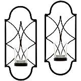 Hosley Lot de 2, 30,5cm haute fer Bougie chauffe-plat appliques. pour spa, aromathérapie, mariage. Fabriquée à la main par des Artisans