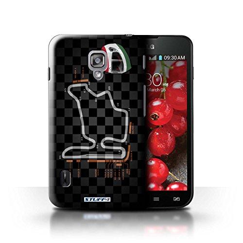 Kobalt® Imprimé Etui / Coque pour LG Optimus L7 II Dual / Russie/Sochi conception / Série 2014 F1 Piste Hongrie/Budapest