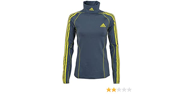 Details zu adidas Damen Stand Up Rollkragen Pullover Longsleeve Shirt Skirolli grau gelb