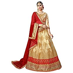 WomenS Beige Color Embroidered Lehenga ASVRNK803