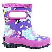 BOGS Girls Infants Skipper Clouds Violet Rainboots Wellies 72368K-UK 6 (EU 23)