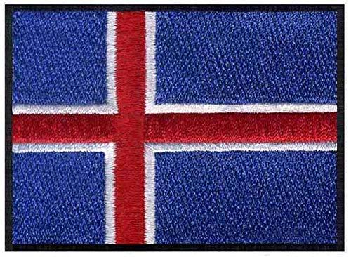 ASTONISH Islandia Hierro Bandera Bordado Parches Logotipos