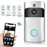 Türklingel-Kamera, 720P WiFi, Video-Türklingel, kabellose Türklingel, Sicherheitskamera, Türklingel mit Zwei-Wege-Audio, Bewegungserkennung, IR-Nachtsicht, APP-Steuerung für Büro und Zuhause