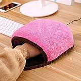 CWAIXX USB Warmen Maus Pad Hand wärmer Maus Pad Handgelenk wärmere Heizung beheizt Maus Pad Hand wärmer Handschuhe, Rosa - 2