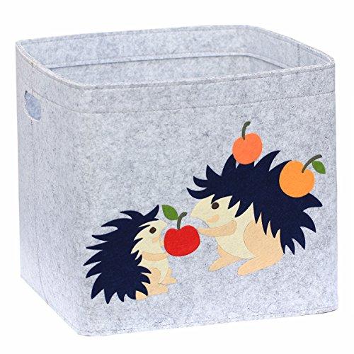 Cesta de juguete,cesta de almacenaje,organizador de juguetes 33x33x33cm Lucky Sign-care(erizo)