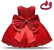 Inlefen Baby Girls Party Dress Bowknot Vestido Floral sin Mangas de Princesa para 6 Meses-5 años