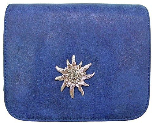 a2c8849036ccf Trachtenland - Trachtentasche mit Edelweiß oder Hirsch Applikation - Schöne Dirndl  Handtasche für Oktoberfest und Kirchweih