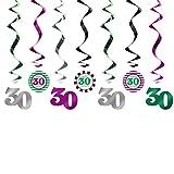 Girlande 30 Dekoration zum Geburtstag Jubiläum Geburtstags-Feier-Party. Von Haus der Herzen ®