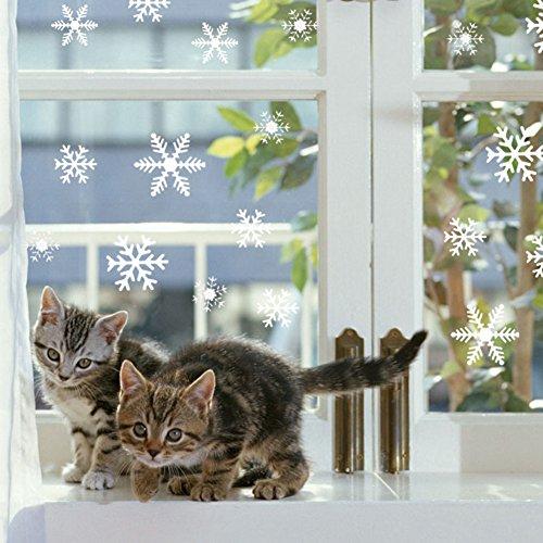 108 vetrofanie fiocchi di neve per natale fiocco di neve stickers da vetro finestra vetrina - Vetrofanie per finestre ...