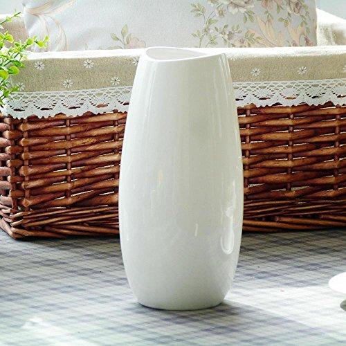 VIO Vase Keramik Ornamente Handwerk Wohnkultur,Weiß,Einheitsgröße (Handwerk Vase)
