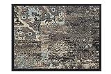 HMT 5800428 Fußmatte, Polyamid, Motiv Vintage, 80 x 120 cm