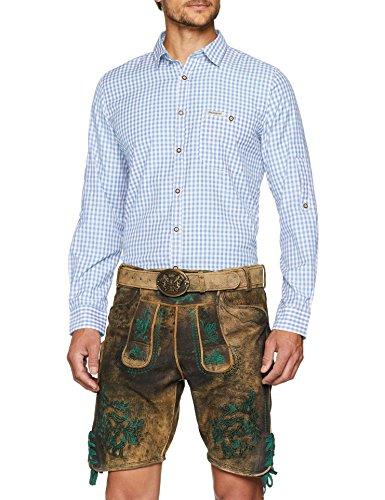 Stockerpoint Herren Campos3 Trachtenhemd, Blau (Hellblau), X-Large