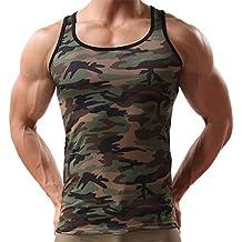 Canottiera Sportiva da Uomo Sportiva Senza Maniche con maniche Mimetiche,Yanhoo Military Sleeveless Men's Camouflage Vest Sportswear Tank Top
