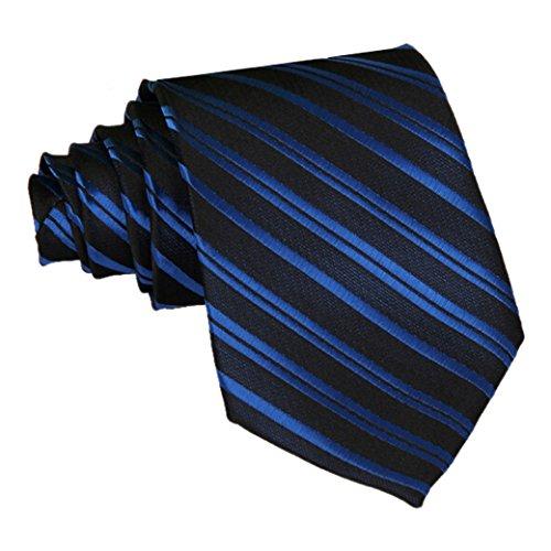 Panegy Corbata de Rayas -145cm para Hombre Color Azul*Negro