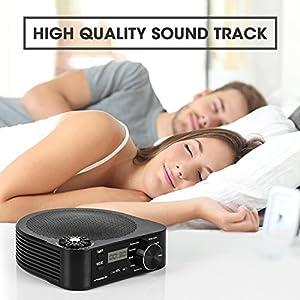 Hangsun Weißes Rauschen Baby Maschine Schlafhilfe S1 White Noise Machine mit 10 Beruhigender Geräuschen, Timer, Zeitanzeige