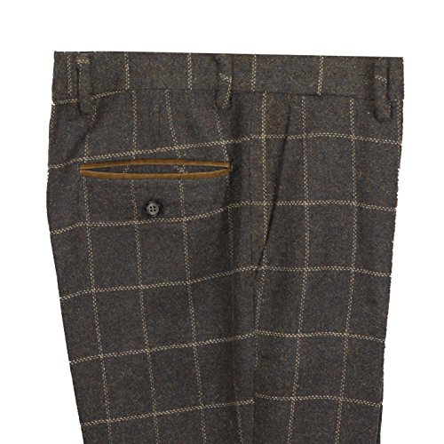 Xposed Herren Blazer Anzug, Karo * Trouser-Earth Brown