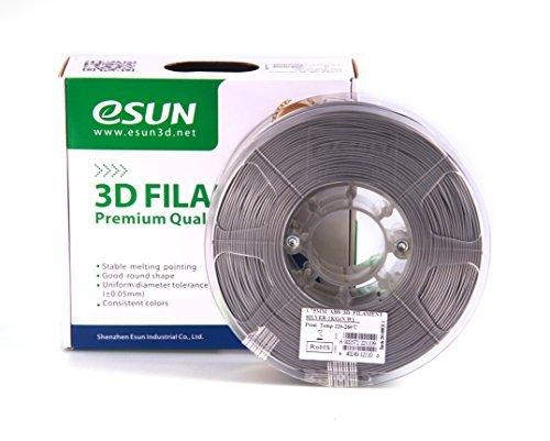 esun Imprimante 3D Filament ABS 1,75mm 1kg Argent
