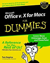Microsoft Office v.X for Macs For Dummies by Tom Negrino (2002-01-29)