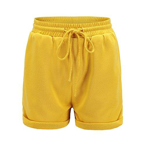 (Neueste  Yoga Hosen LEEDY Damen Funktions-Sport Hot Pants Bequeme Hotpants, Unterwäsche mit leichtem formenden Effekt Crimpen Strand Kurze Hose Hot Pants)