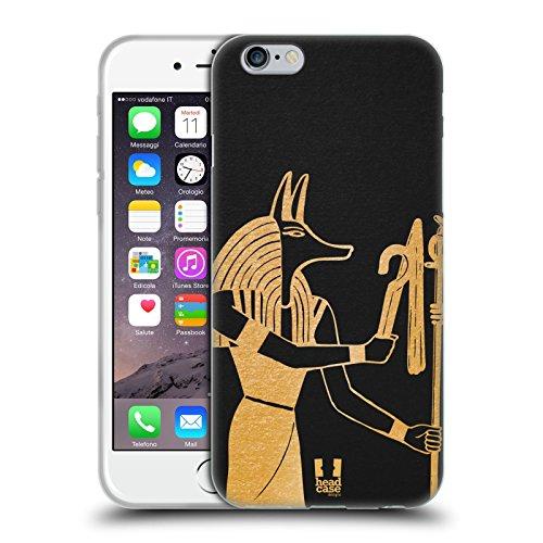 Head Case Designs Akhenaten Les Icônes De L'égypte Antique Étui Coque en Gel molle pour Apple iPhone 6 / 6s Anubis