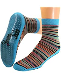 Kinder Antirutsch Stopper Socken geringelt
