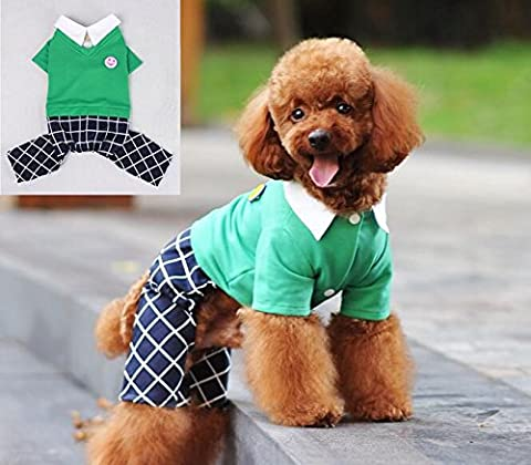 Dogs Kingdom beau chiot Pet vêtements pour chien Pet printemps Plaid d'été pour femme pour petit animal Vêtements T-shirt Gilet sans manches pour