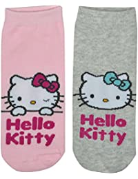 Hello Kitty Damen Sneaker-Socken, 2er Pack