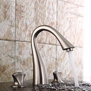 SUNNY KEY-Waschbecken Wasserhahn @ Typ zwei Griffe Nickel gebürstet Badezimmer Waschbecken Wasserhahn getrennt