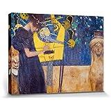 Gustav Klimt - La Música, 1895 Cuadro, Lienzo Montado Sobre Bastidor (80 x 60cm)