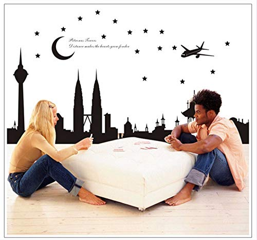 Hanjiming Hintergrundwanddekorationaufkleber-Wandaufkleber Malaysische Zwillinge Der Schlafzimmerwohnzimmerküche Kreative