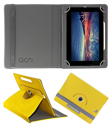 Acm Rotating 360° Leather Flip Case for Zync Dual 7i Cover Stand Yellow  available at amazon for Rs.149