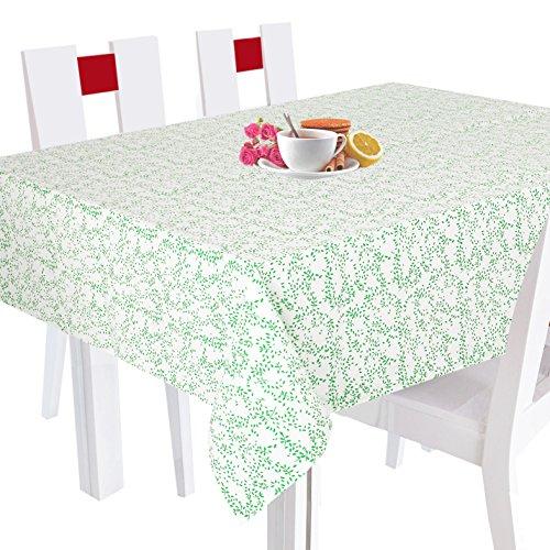 Indiano a mano stampato piazza tovaglia -100% cotone floreale e lascia tovaglia quadrato verde -140 x 140 cm