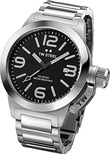 TW Steel Unisex-Armbanduhr Canteen Bracelet Analog Edelstahl grau TW300