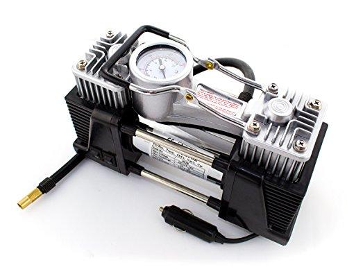 12V Druckluft Kompressor mit bis zu 7 Bar Druck | Elektrische Luftpumpe / Autokompressor mit 70L/min mit integrieter LED Taschenlampe - 2