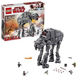 LEGO 75189 Star Wars Episode VIII First Order Assault Walker Building Set, Five Mini Figures, All Terrain Heavy Artillery Toy