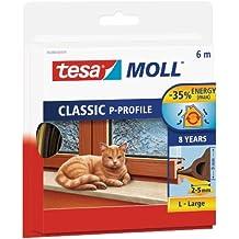 Tesa 05390-00101-00 - Burlete de caucho perfil P, 6 m x 9 mm, color marrón