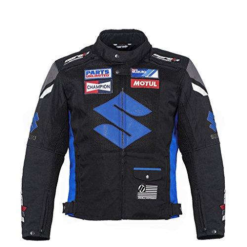 Suzuki Blaue Textiljacke ((XL (56))) (Für Blau Suzuki Motorrad Jacke)