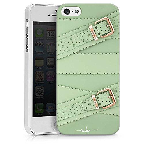 Apple iPhone X Silikon Hülle Case Schutzhülle Schnalle Leder Mode Hard Case weiß