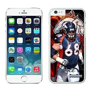 Denver Broncos Zane Beadles Case For iPhone 6 Plus White 5.5 inches