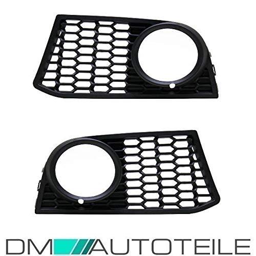 DM Autoteile Gitter Grill Nebelscheinwerfer Set Schwarz passend für F10 F11 M-Paket 10-13