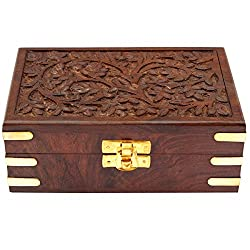 ITOS365 Handmade Wooden Jewellery Box for Women Jewel Organizer